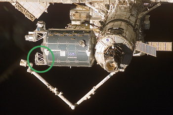 Columbus module docked on ISS