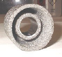 titanium porous matrix for storing caesium